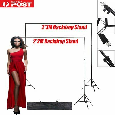 Photography Studio  Backdrop Stand Screen Background Support Kit 2X2m/2X3m