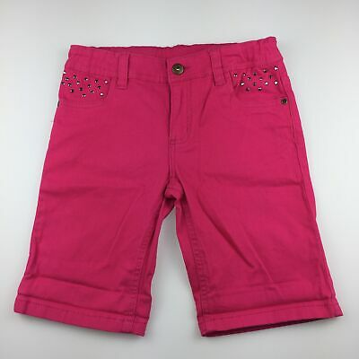 Girls size 10, Emerson, pink stretch cotton shorts, adjustable, EUC