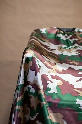 Green Camouflage Haircut Cape Barber Gown Stylist Hairdresser Cutting Handmade