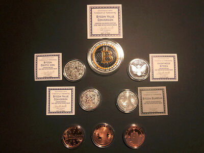 Bitcoin Anonymous Commemorative Silver Proof Round Master Set: Low Reserve