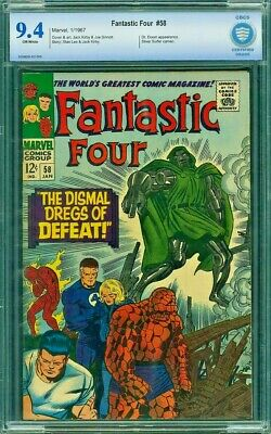 Fantastic Four # 58 9.4 CBCS not CGC  Dr. Doom and Silver Surfer!! A Classic!!