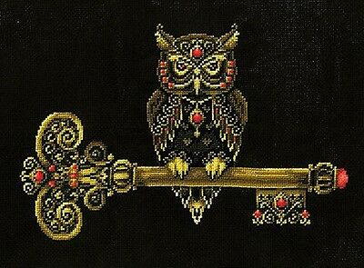 The Key of Wisdom - Owl - Cross Stitch Chart - Digital Format