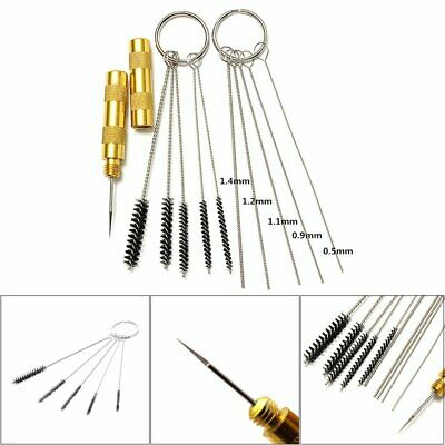11pcs Airbrush Cleaning Needle & Brush Accessories Kit for Spray Gun Cleaner QC