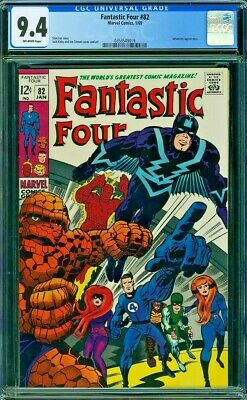 Fantastic Four # 82 9.4- CGC feat. The Inhumans!! Perfectly Centered!!
