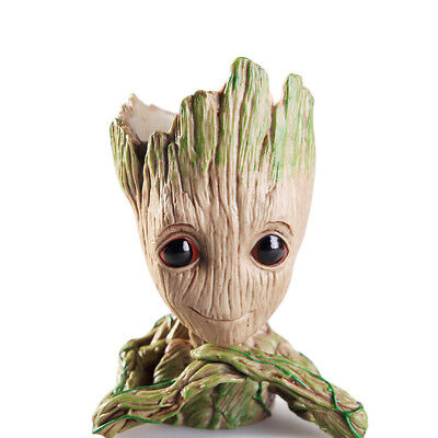 The Galaxy Vol 2 Guardians Baby Groot Flowerpot Tree Man Figure Pen Pot Toy Gift