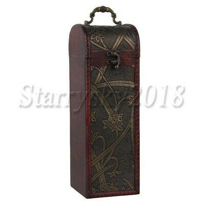 Retro Vintage Wooden Red Wine Box Bottle Case Wedding Bridesmaid Birthday Gift