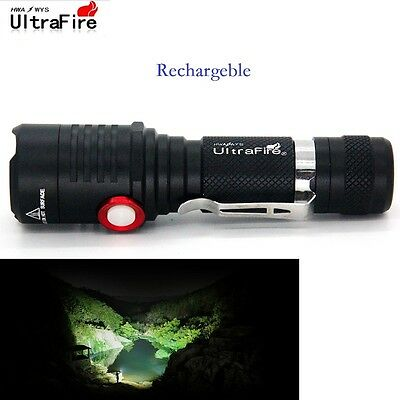 50000LM Torch T6 LED Flashlight 5modes 18650 Ultrafire Focus Waterproof Lamp Top
