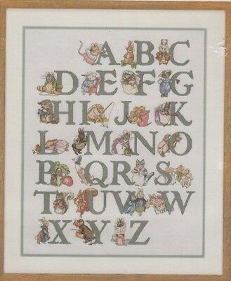 Beatrix Potter Alphabet Sampler cross stitch chart