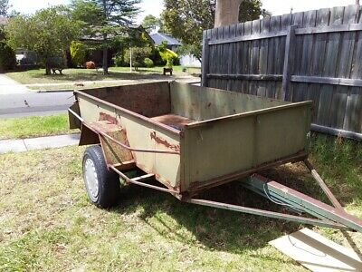 Large Trailer, front and rear gates, high side panels, good solid construction.