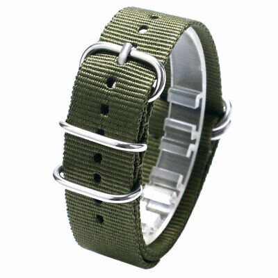 20mm 22mm Replacement Nylon Wrist Watch Band Strap Military Army Belt