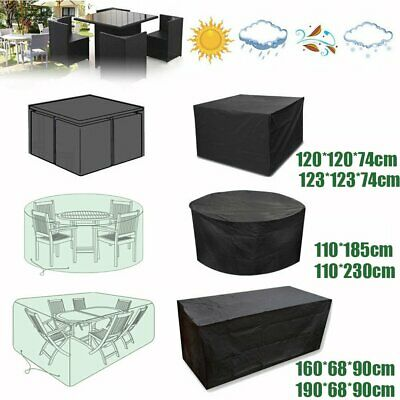 Waterproof Garden Patio Furniture Cover Covers for Rattan Table Cube Round UK BN
