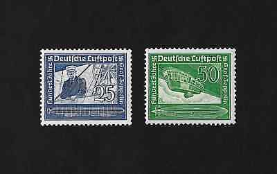Germany  1938  3rd Reich Airmail  Graf Zeppelin Set    MH