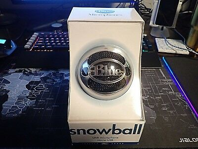 Blue Microphones Snowball Ice Condenser Cable Professional Mic. - Free Shipping