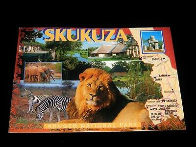 Vintage Postcard, SKUKUZA, SOUTH AFRICA,Multiview Kruger National Park,To Canada