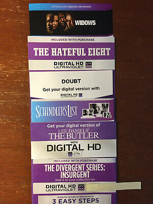 HD Digital Codes THE COMMUTER, SAVAGES, INSURGENT, THE BUTLER - PLS READ