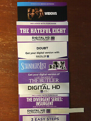 HD Digital Codes THE COMMUTER, SAVAGES, JUMANJI WELCOME TO THE JUNGLE, INSURGENT