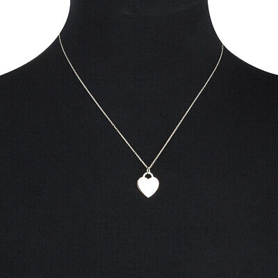 NEW Whitehill Sterling Silver Necklace Pink & Plain Heart