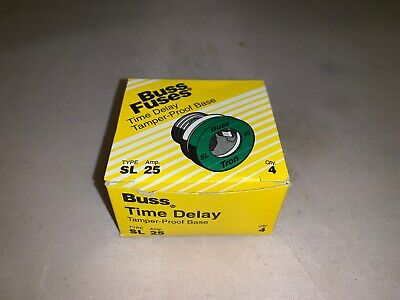 16 NEW LOT OF SL-25 BUSSMAN 25 AMP SCREW IN REJECTION BASE PLUG FUSES 4182291