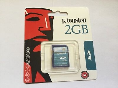 1pcs New 2gb Kingston standard SD memory cards *Great for PDA/older cameras