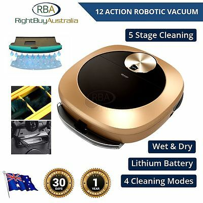 Robotic Vacuum NEW High Tech Li-ion  Automatic 12 in 1 Cleaner Wet Dry Intense