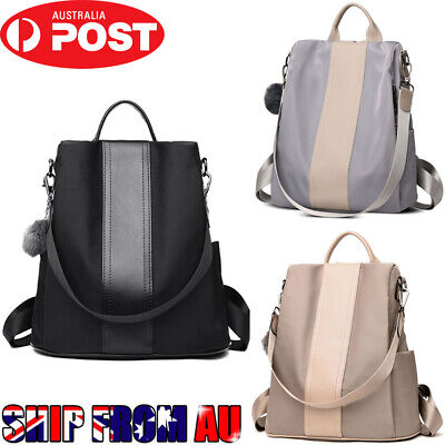 Women Anti-theft Oxford Cloth Backpack Travel Rucksack Shoulder Bag Waterproof A