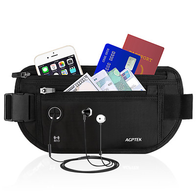 AGPTEK Waterproof Waist Pack Waist Bumbag with RFID Blocking for Travel Sports