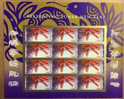 Us 2013 Scott #4726 Chinese Lunar New Year The Snake 12 Mvf Forever Stamp Sheet