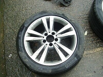 "A2124015602 Genuine Mercedes 17"" Alloy Wheel E Class 212 Read Advert Tyre Scrap"