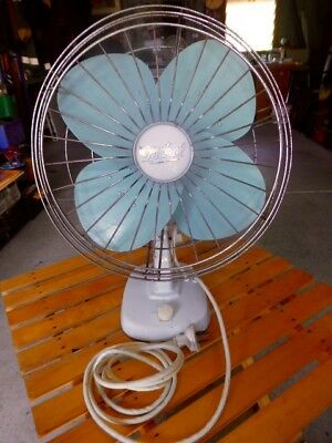 VINTAGE COLLECTABLE MISTRAL FAN EX.CONDITION WORKING GYROSCOPIC ACTIONS 1960s