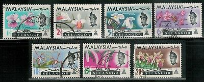Lot 5375  - Malaya (Selangor) 1965  used Orchids stamp set