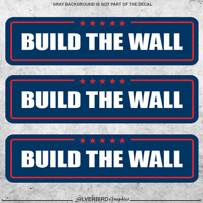 3x Trump Build The Wall stickers president election America finish 2020 MAGA