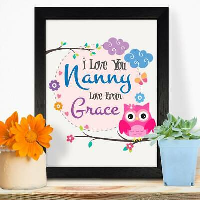 Personalised Gifts For Grandma Nanny Mothers Day Birthday Christmas Print #67