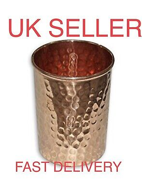 Pure Copper Hammered 300ml Drinking Glass/Cup/Tumbler/Mug (Ayurveda Health)