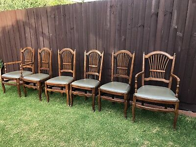 6 Antique Dining Chairs