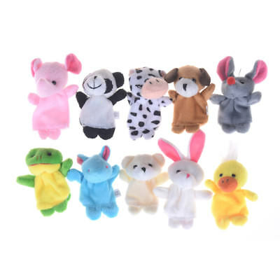 Preschool Kids Finger Puppets Funny Plush Dolls Family Story Baby Game ZJHN YR