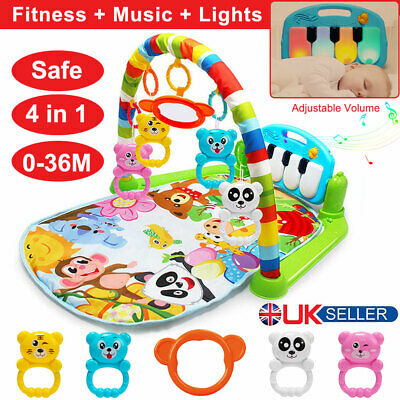 Baby Play Mat Lay and Kids Gym Playmat 4 in 1 Fitness Music Fun Piano Boys Girls