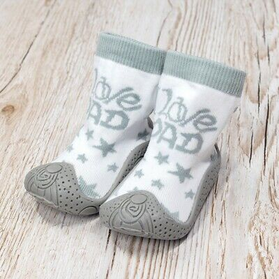 Unisex Anti-Rutsch Socken Strümpfe I Love Dad grau