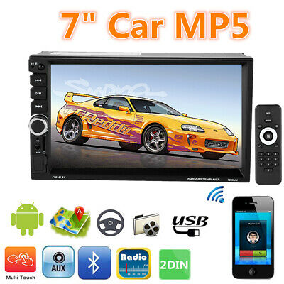 "7"" Double 2 Din Car MP5 MP3 Player Stereo Touch Screen Radio Bluetooth Head Unit"