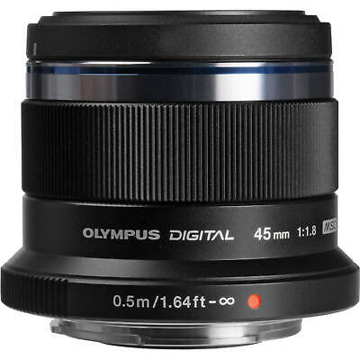 Olympus M.Zuiko Digital ED 45mm f1.8 Camera Lens Black