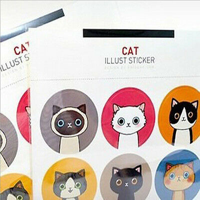 18pcs/lot Cat&Doll Paper Stickers Decoration Decals DIY  Kawaii Stationery FT