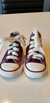 c6d030299f11 Hi Top All Star Converse Shoes Purple Baby Size UK 3 Good Clean Condition