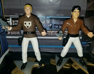 STAR TREK Captian Proton LOT OF 2 Tom and Harry CUSTOM ACTION FIGURES VOYAGER