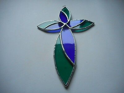 Stained Glass Cross Suncatcher or Wall Mount.