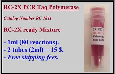 Enzyme: Taq DNA Polymerase, 2X Mixture / 2 tubes / 15 $  / free shipping fees