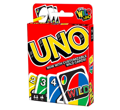 Uno-Card-Game With Customizable Wild Cards Family Fun By Mattel