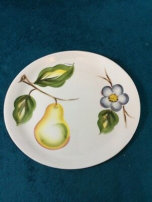 Vintage Radford Pottery Hand Painted Oval Plate with Pear