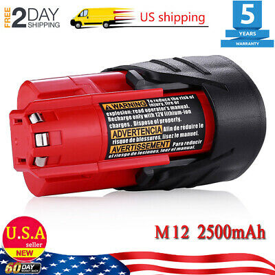 New 2.5AH M12B Battery For Milwaukee 48-11-2401 12Volt 12V M12 Lithium-Ion Tools