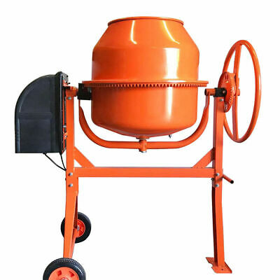 Mighty 550W 140L Drum Portable Electric Concrete Cement Mixer Mortar Plaster