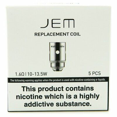 INNOKIN JEM COILS, 1.6Ω, Genuine Replacement Coil Heads (pack 5) 10W-13.5W