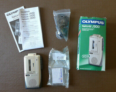 Olympus Pearlcorder J300 Microcassette Recorder. Good Condition & Working.